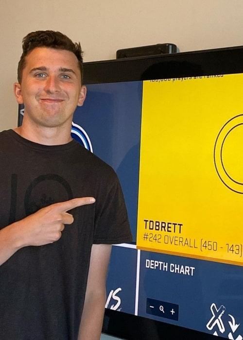 Brett Barrett as seen in a picture that was taken in Toronto, Ontario, in August 2020