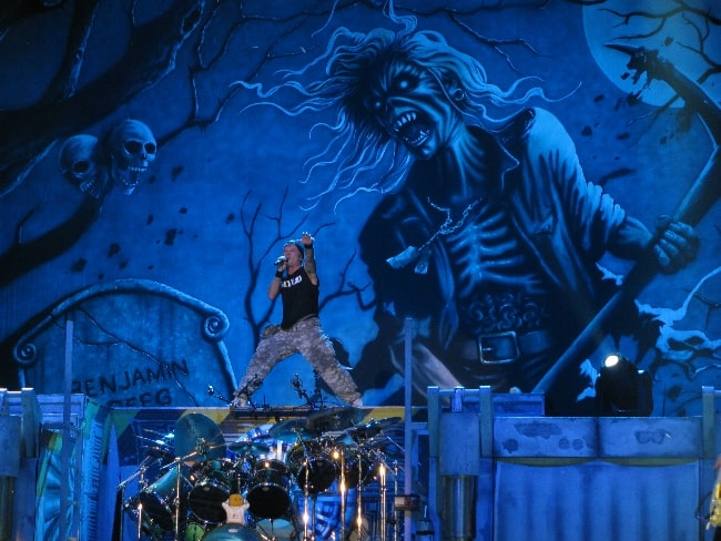Bruce Dickinson as seen while performing on July 6, 2010, during The Final Frontier World Tour