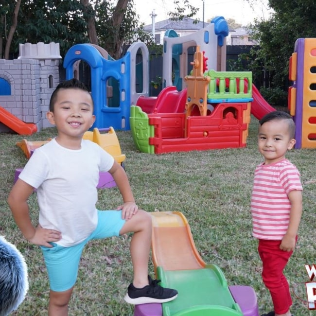 Calvin (Left) and Kaison (Right) as seen in a picture that was taken in March 2019