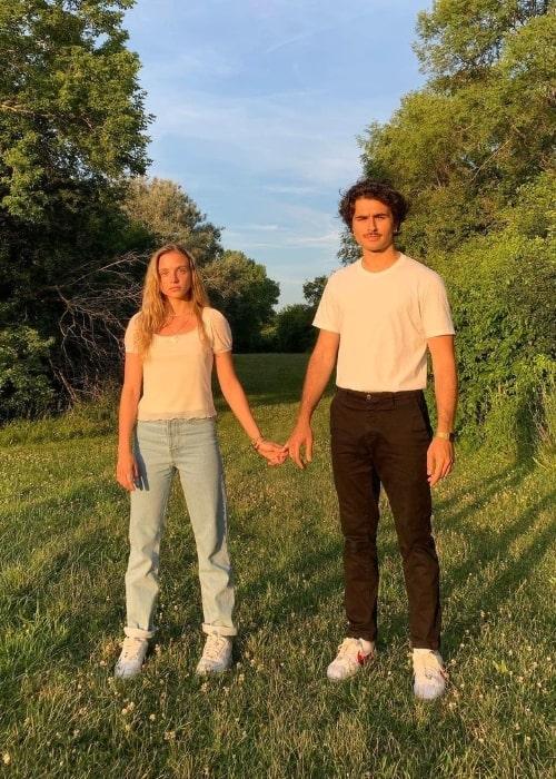 Casimere Jollette posing for the camera alongside Alexander Eling in July 2020