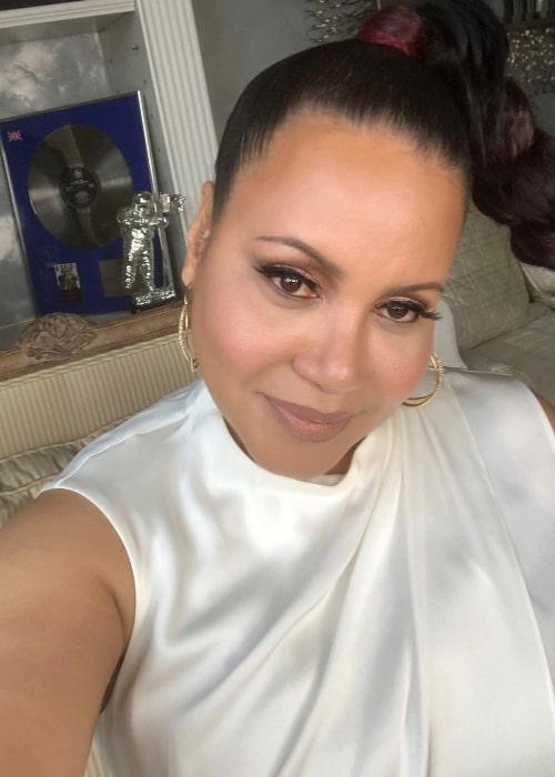 Cheryl James in an Instagram selfie from January 2021