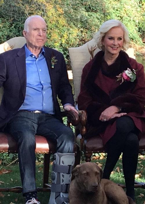 Cindy McCain and John McCain, as seen in November 2017