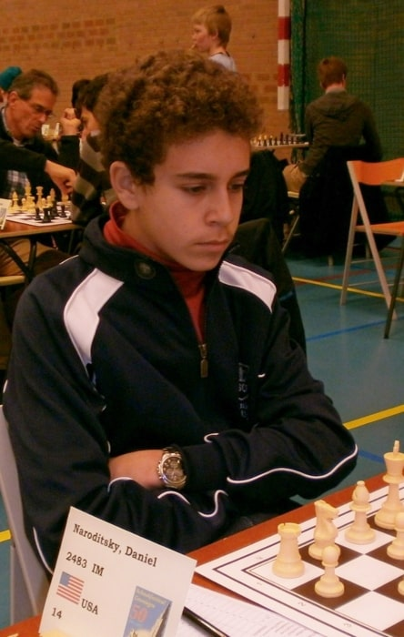 Daniel Naroditsky in December 2012 playing at the Groningen Chess Festival in the Netherlands