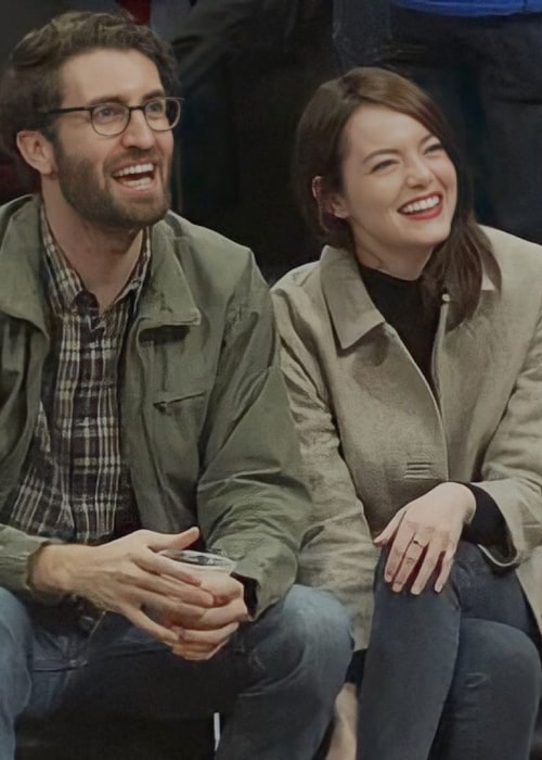 Dave McCary and Emma Stone, as seen in January 2019