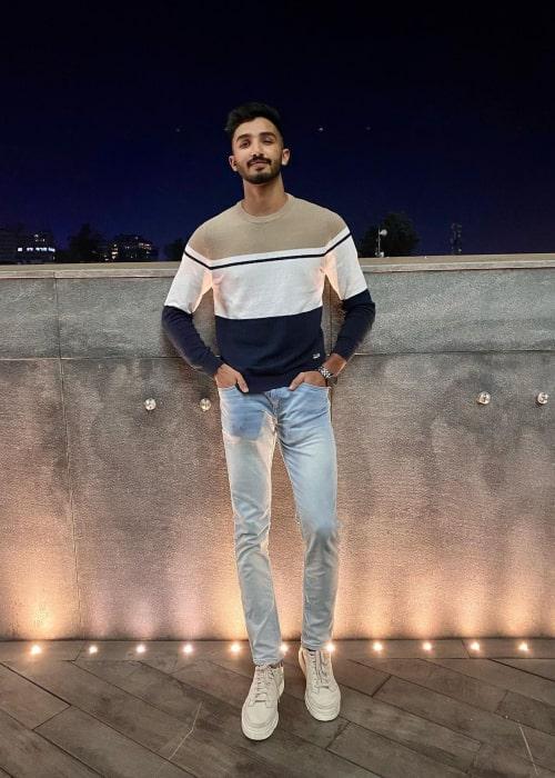 Devdutt Padikkal as seen in an Instagram Post in November 2020