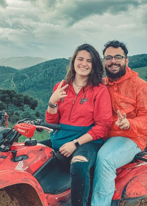 Edson Castro as seen in a picture that was taken with is beau Deborah in Minas Gerais in December 2020