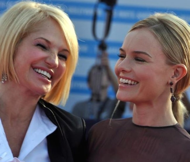 Ellen Barkin (Left) and Kate Bosworth at the Deauville American film festival in 2011