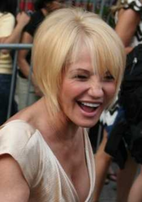 Ellen Barkin pictured at the 'Ocean's Thirteen' premiere in 2007