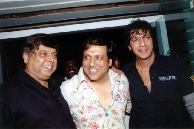 From Left to Right - David Dhawan, Govinda, and Chunky Pandey at Bobby Deol's birthday bash