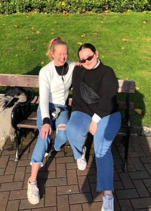 Glenna Walters as seen in a picture that was taken with her friend actress Miranda McKeon in Dublin, Ireland in January 2020
