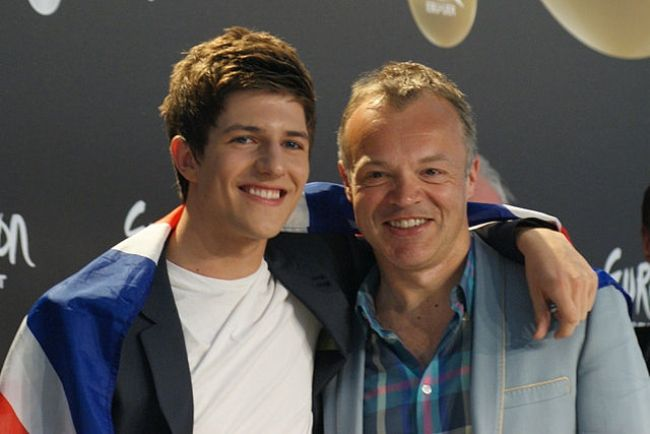 Graham Norton (right) as seen with Josh Dubovie in 2010
