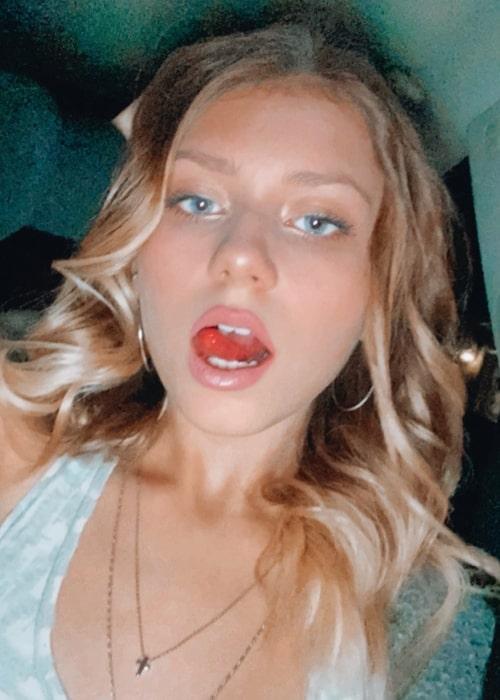 Haley Sullivan as seen in a selfie that was taken in October 2020