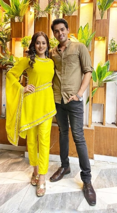 Harsh Nagar and Krutika Desai in an Instagram post in December 2020