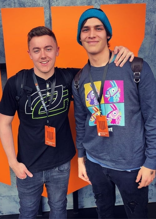 James Spratt as seen in a picture that was taken with gamer FaZe Pamaj in May 2018