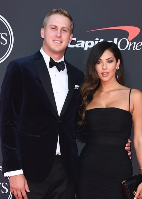 Jared Goff and Christen Harper, as seen in July 2019