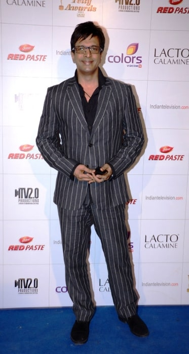 Javed Jaffrey at Colors Indian Telly Awards in June 2012