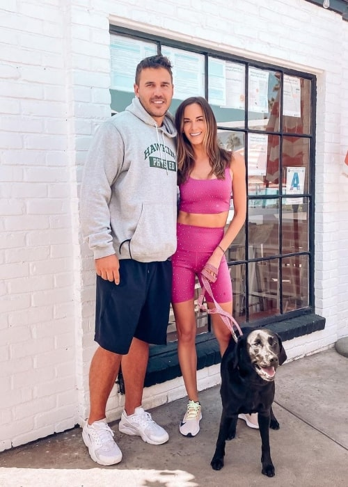 Jena Sims as seen in a picture that was taken with beau Brooks Koepka and dog in November 2020