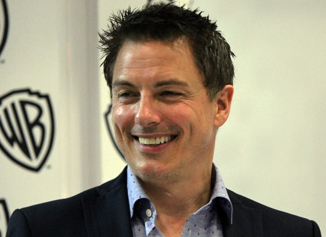 John Barrowman pictured while meeting with 'Arrow' fans at the 2014 Comic-Con convention in San Diego, California