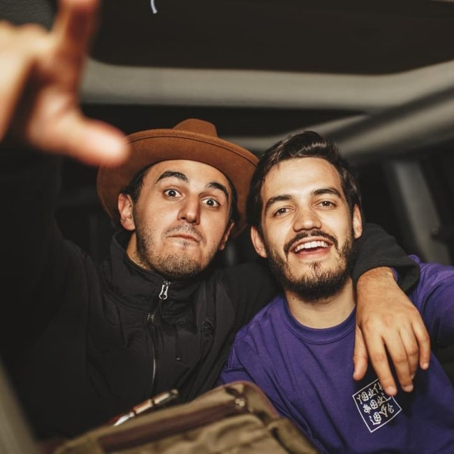 Juan Pablo Villamil and music artist Juan Pablo Isaza in a picture that was taken in April 2019