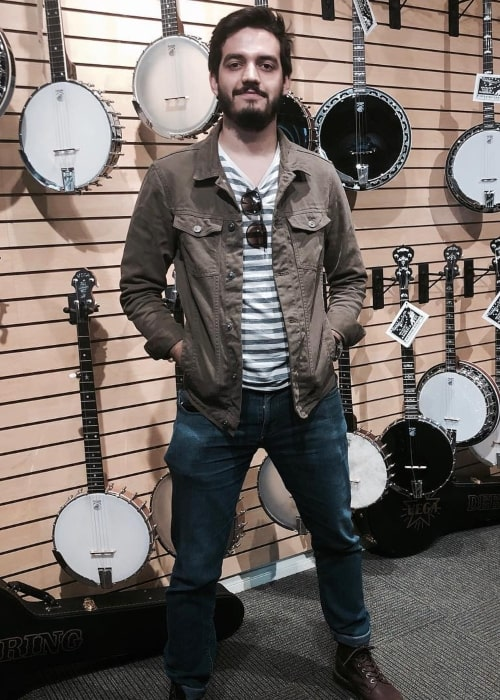 Juan Pablo Villamil as seen in a picture that was taken at a Deering® Banjo Company in October 2018