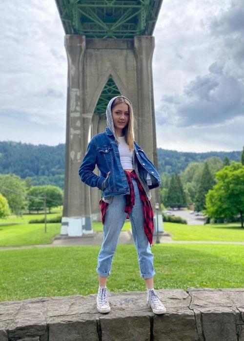 Katie Beth Hall as seen in a picture that was taken in June 2020, in Portland, Oregon