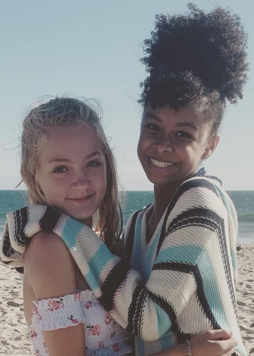 Katie Beth Hall as seen in a picture that was taken with filmmaker Brianna Reed at the Zuma Beach in July 2019