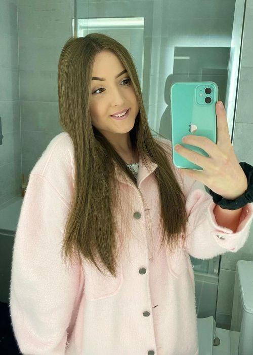 Katylee Bailey as seen in a selfie that was taken in October 2020