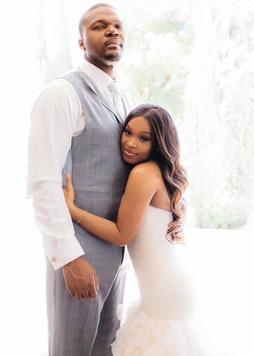 Khadijah Haqq McCray as seen in a picture with her husband Bobby McCray in July 2020