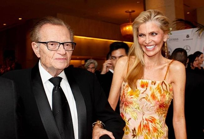 Larry King as seen with his wife Shawn Southwick in 2014