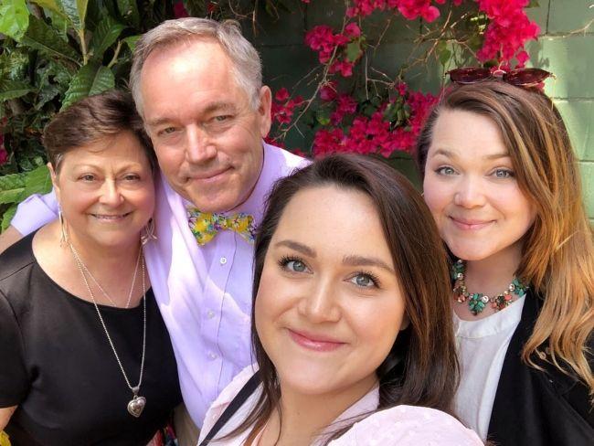 Lauren Holt as seen posing with her family in November 2019