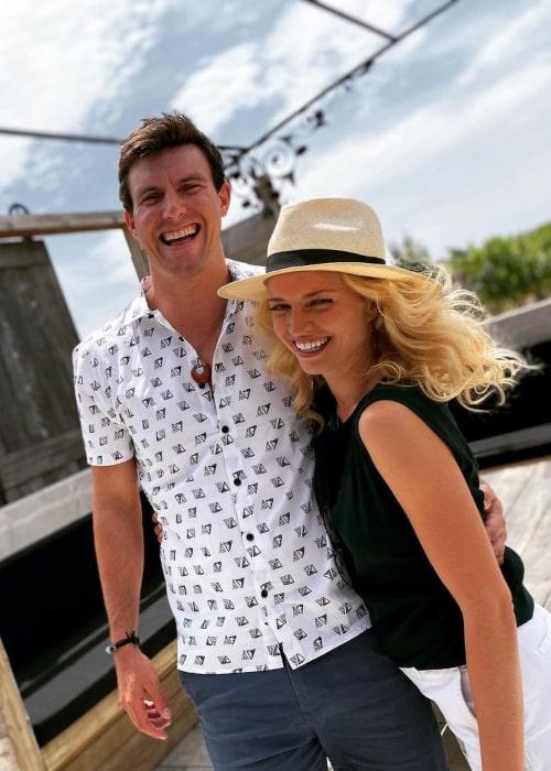 Lauren Storm and Aren Farrington, as seen in July 2020