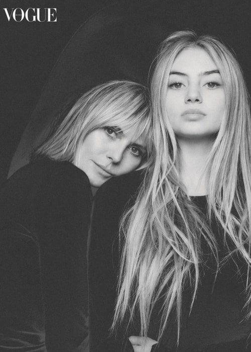 Leni Klum with her mother in the Vogue magazine in December 2020