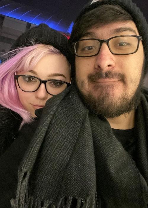 MiniiDear as seen in a selfie that was taken with her beau AlexAce in December 2020