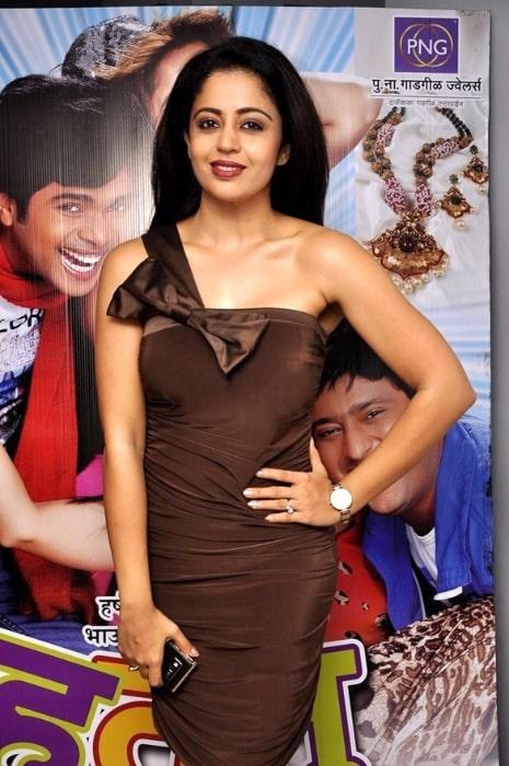 Neha Pendse pictured at the premiere of Marathi film 'Hu Tu Tu' in June 2014