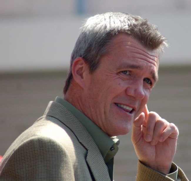 Neil Flynn pictured at a ceremony for Patricia Heaton to receive a star on the Hollywood Walk of Fame in 2012