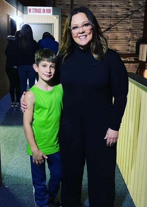 Nidal Wonder as seen in a picture that was taken with actress and comedian Melissa McCarthy in Warner Bros. StudiosBurbank, California in March 2020