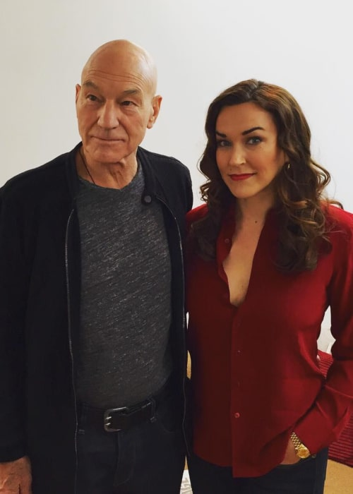 Patrick Stewart and Sunny Ozell, as seen in October 2015