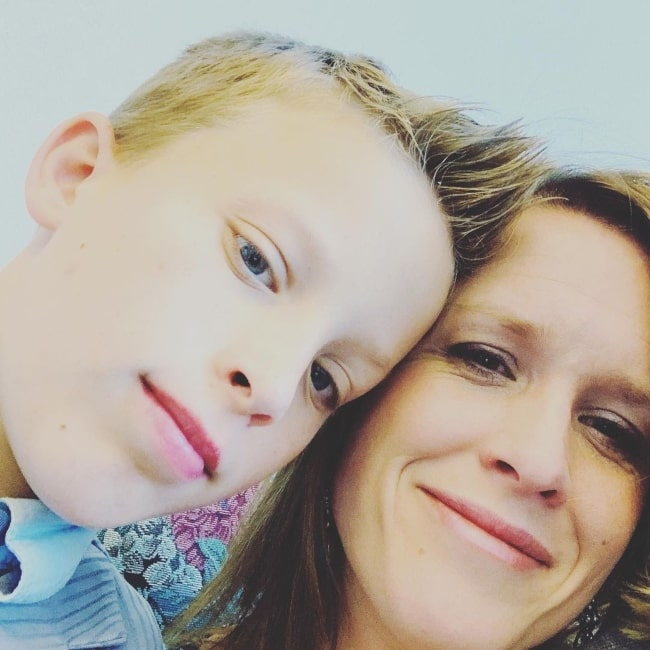 Paxton Myler as seen in a selfie with his mother Ally Myler in September 2019