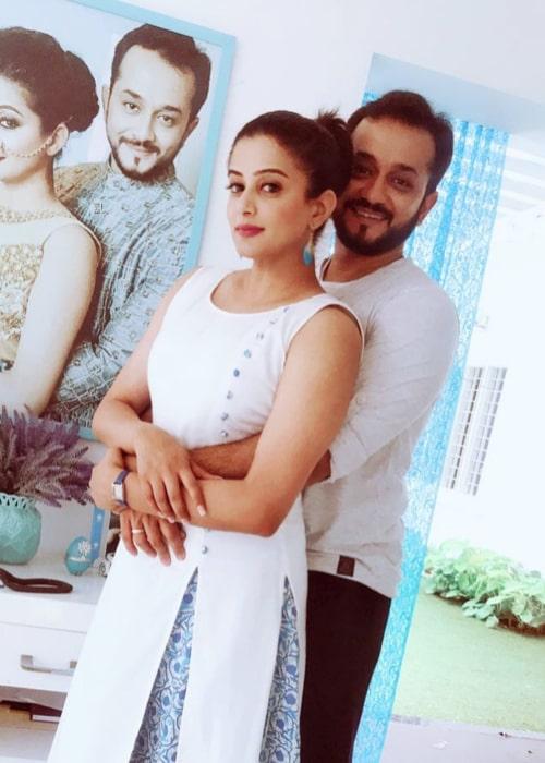 Priyamani and Mustafa Raj, as seen in July 2018
