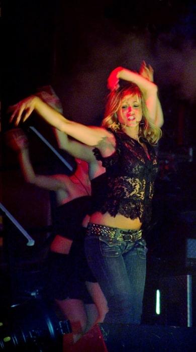 Rachel Stevens as seen while performing 'Funky Dory'