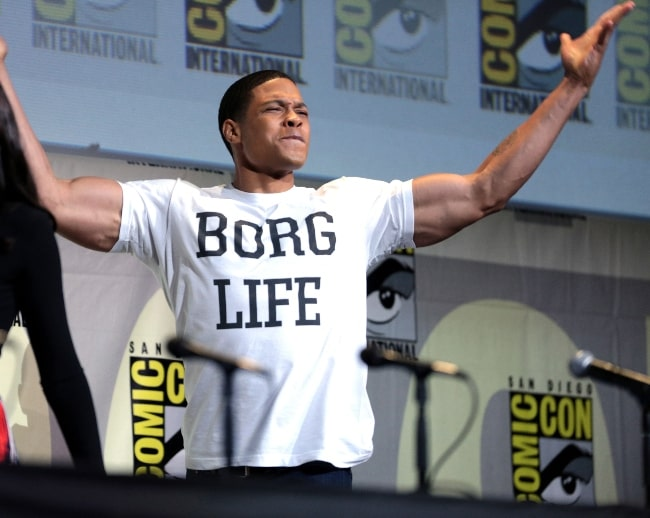 Ray Fisher as seen while speaking at the 2016 San Diego Comic-Con International in San Diego, California