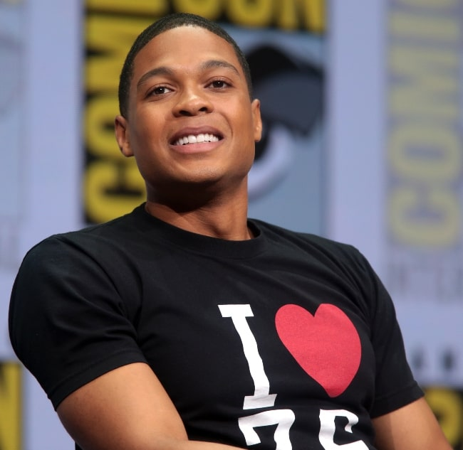 Ray Fisher pictured while speaking at the 2017 San Diego Comic Con International, for 'Justice League', at the San Diego Convention Center in San Diego, California