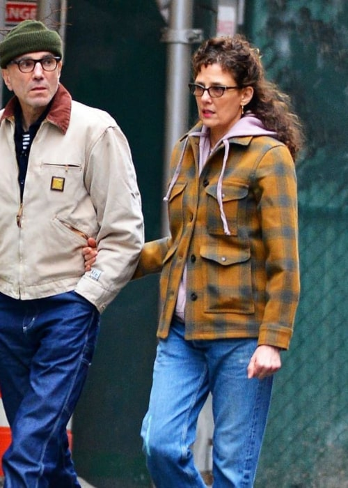 Rebecca Miller and Daniel Day-Lewis, as seen in May 2018
