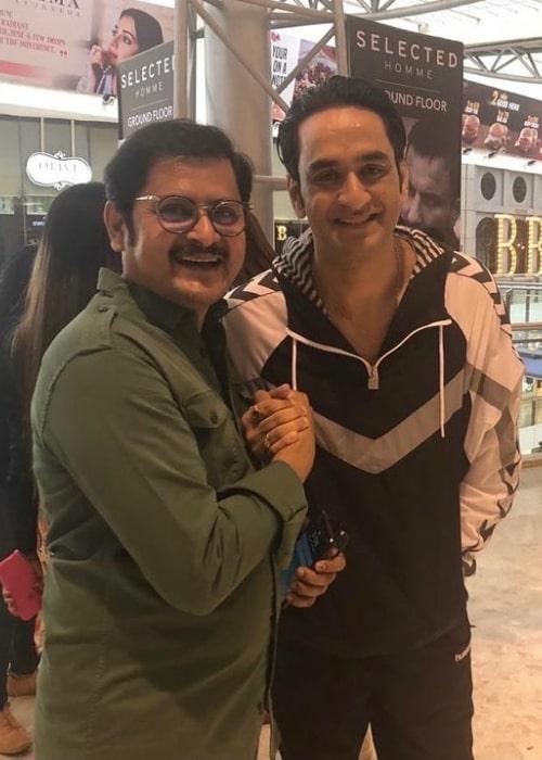Rohitash Gaud (Left) and Vikas Gupta as seen in an Instagram post in December 2020