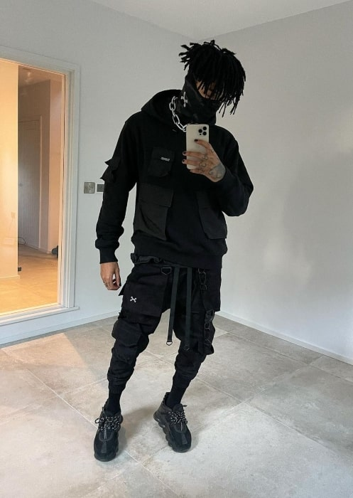 Scarlxrd sharing his selfie in January 2021