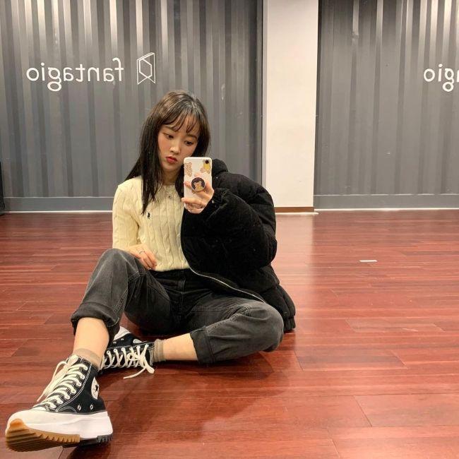 Sei as seen taking a selfie in March 2020