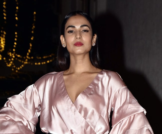 Sonal Chauhan as seen while pictured at Krishika Lulla's birthday bash in December 2017