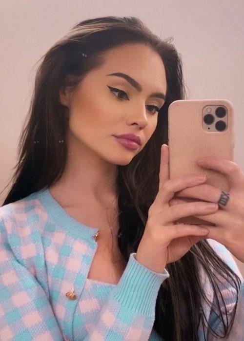 Talia Mar as seen in a selfie that was taken in December 2020