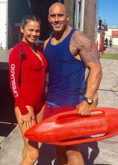 Tanoai Reed in January 2020 having fun working together with his wife