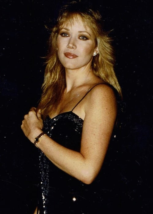 Tanya Roberts as seen in a picture that was possibly taken sometime in the year of 1985